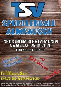 Sportlerball 2020 @ TSV Sportheim