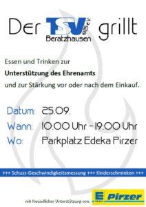 Der TSV grillt... @ Parkplatz Edeka Pirzer Beratzhausen